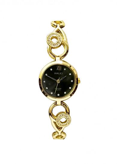 Đồng Hồ Nữ Halei Dáng Lắc Mặt Tròn (Tặng pin Nhật sẵn trong đồng hồ + Móc Khóa gỗ Đồng hồ 888 y hình + Hộp Chính Hãng)