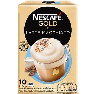 Cà Phê Hòa Tan Latte Macchiato Nescafe Gold (20g x 10 Gói)