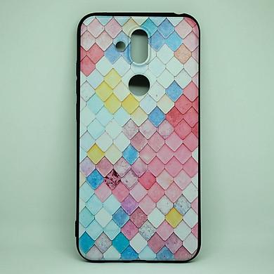 Ốp dành cho Nokia X7  cao su dẻo, cẩm thạch hồng