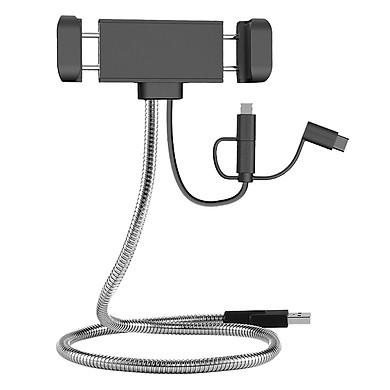 Dây Cáp Sạc 3 Trong 1 RAVPower (Lightning MFi Cho iPhone, Type C, Micro USB) 1m RP-CB015 Kèm Giá Đỡ Điện Thoại - Hàng Chính Hãng