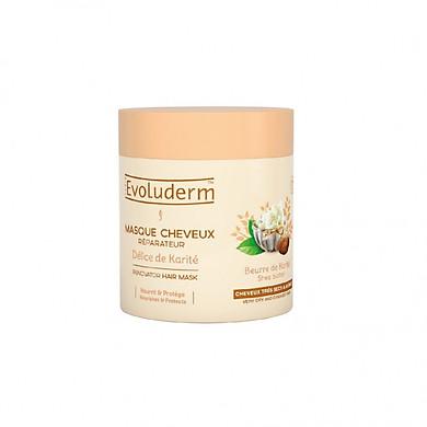 Kem ủ tóc Tinh chất Bơ Hạt Mỡ Masque Cheveux Karite Evoluderm 500ml - 17317