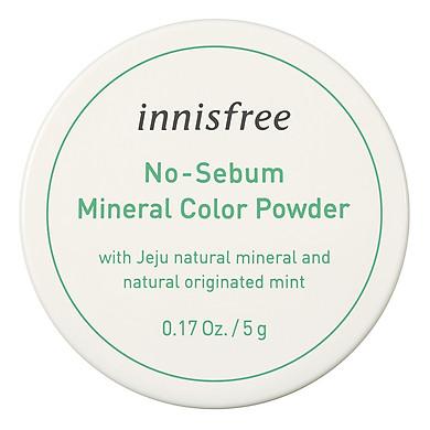 Phấn Phủ Kiềm Dầu Dạng Bột Khoáng Có Màu Innisfree No Sebum Mineral Color Powder 5G