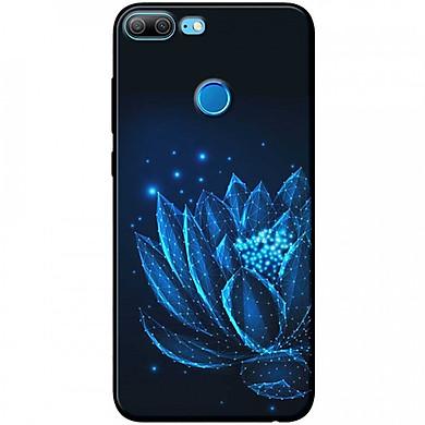 Ốp lưng dành cho  Honor 9 Lite mẫu Hoa sen ánh xanh