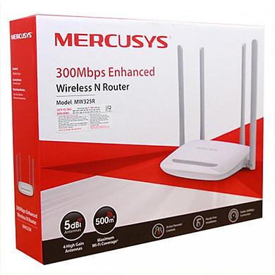 Bộ Phát Sóng Wifi Mercusys 4 Râu Chuẩn Tốc Độ 300 ( 4 Cổng Lan ) - Hàng Chính Hãng