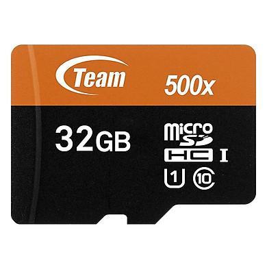 Thẻ Nhớ Micro SDHC Team 32GB 500x Class 10 U1-80MB/s (Đen Cam) - Hàng Chính Hãng