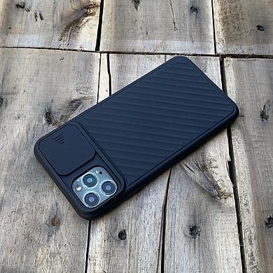 Ốp lưng kéo nắp camera cao cấp dành cho iPhone 11 Pro - Màu Đen