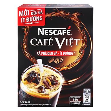 Nescafé  Café Việt Cà Phê Đen Đá Ít Đường (84g)
