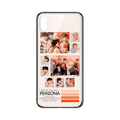 Ốp lưng CƯỜNG LỰC VIỀN ĐEN cho iPhone XS MAX KPOP_BTS_PERSONA - Hàng chính hãng