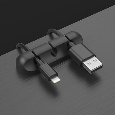 Giá kẹp dây Silicone, kẹp dây cáp điện thoại, dây chuột, bàn phím máy tính