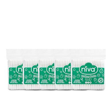 Combo 05 Tăm bông ngoáy tai cao cấp người lớn 100 que nhựa Niva AZ2