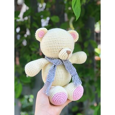 Gấu kem hồng - Made By Bunny - Thú bông quà tặng dễ thương cho bé