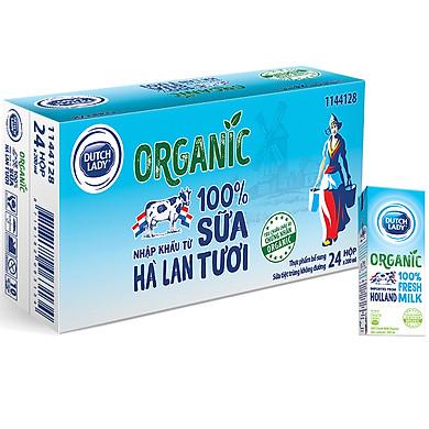 Thùng 24 Hộp Sữa Tươi Tiệt Trùng Dutch Lady Organic (24X200ml)