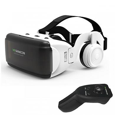 Kính thực tế ảo Vr Shinecon G06E + remote điều khiển điện thoại Shinecon SC-RA8 - Hàng Nhập Khẩu