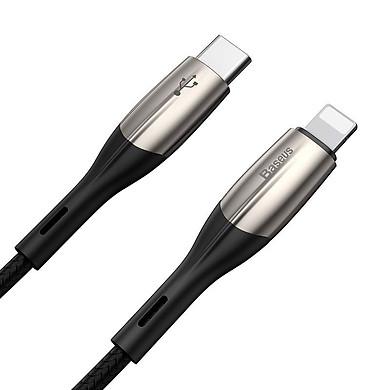 Dây cáp sạc nhanh 18W USB Type-C to Lightning dài 2m  hiệu Baseus HK11-Harizontal cho iPhone / iPad (trang bị đèn LED, sạc nhanh chuẩn PD 18W, Công nghệ chống đứt SR) - Hàng nhập khẩu