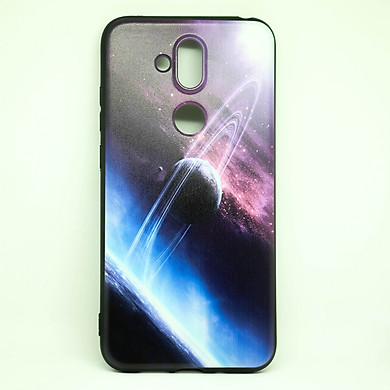 Ốp dành cho Nokia X7  cao su dẻo, hình sao thổ