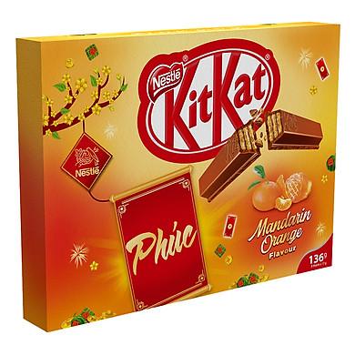 Hộp Quà Tặng KitKatVị Quýt (8 Thanh x 17g)