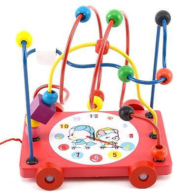 Đồ chơi luồn hạt gỗ - Đồ chơi thông minh