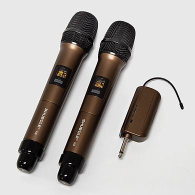 Micro Không Dây – Micro Karaoke Shubole K8 – 2 Mic – Chuyên Dụng Cho Loa Hoặc Amply – Hàng chính Hãng