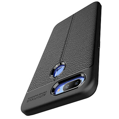 Ốp lưng Silicon Auto Focus giả da, chống sốc dành cho OPPO Realme 2 Pro - Hàng Chính Hãng