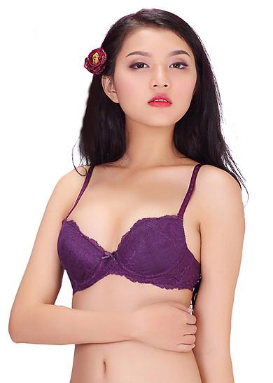 Áo ngực mút dày Wannabe an54v nâng ngực - Tím