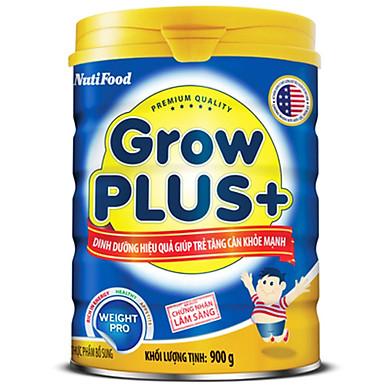 Sữa Bột NutiFood GrowPLUS+ Xanh Tăng Cân Khoẻ Mạnh Lon 900g Cho Trẻ Trên 1 Tuổi - Hàng Chính Hãng - Grow Plus TCKM