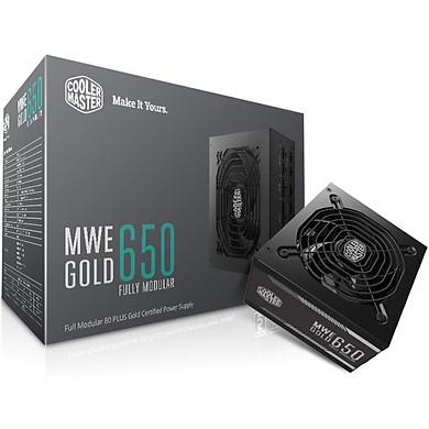 Nguồn Cooler Master MWE GOLD 650 Fully modular - Hàng chính hãng