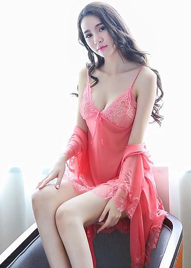 Đầm ngủ siêu gợi cảm cao cấp MSE MS1096 Hồng Dâu
