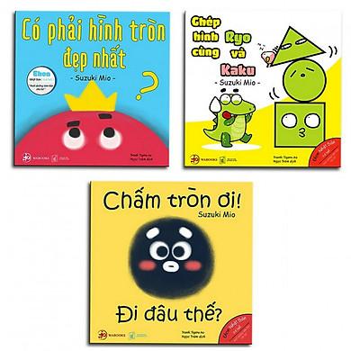 Ehon Nhật Bản NHỮNG ĐIỀU KỲ DIỆU CỦA HÌNH KHỐI : Có Phải Hình Tròn Là Đẹp Nhất? + Ghép Hình Cùng Ryo Và Kaku + Chấm Tròn Ơi Đi Đâu Thế? (Bộ 3 cuốn Phát triển trí tuệ 0 - 6 tuổi - Tặng kèm Bookmark Happy Life)