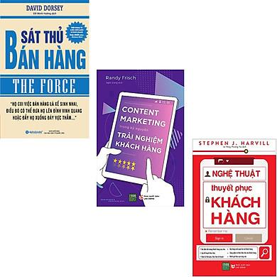 Combo 3 Cuốn Sách Nghệ Thuật Về Bán Hàng : Sát Thủ Bán Hàng + Content Marketing Trong kỷ Nguyên Trải Nghiệm Khách Hàng + Nghệ Thuật Thuyết Phục Khách Hàng