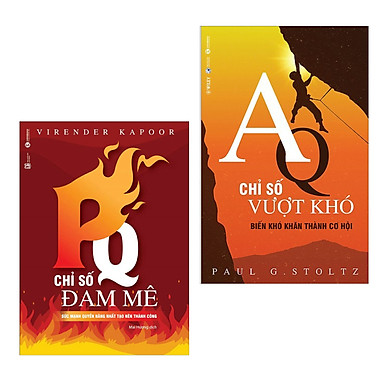 Combo Sách Kinh Tế Hay: PQ - Chỉ Số Đam Mê + AQ - Chỉ Số Vượt Khó (Tặng kèm bookmark thiết kế)