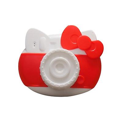 Quạt Cầm Tay Sạc USB Dây Đeo Cổ Hình Camera Mèo Kitty (800mAh)