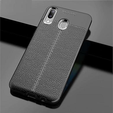 Ốp lưng dành cho SamSung Galaxy A20s silicon giả da chính hãng Auto Focus
