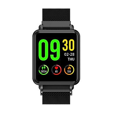 Đồng hồ thông minh COLMI Land1 với màn hình cảm ứng và dây đeo thép nam châm giúp đo nhịp tim, huyết áp và theo dõi sức khỏe - Đen
