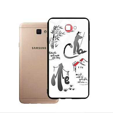 Ốp Lưng Kính Cường Lực cho điện thoại Samsung Galaxy J7 Prime - Cha Mẹ 02
