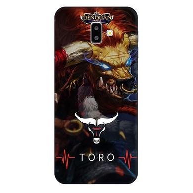 Ốp lưng nhựa cứng nhám dành cho Samsung GalaxyJ6 Plus in hình Toro