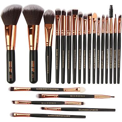 Gobestart Wooden Makeup Brush Set tools Make-up Toiletry Kit Make Up Brush Set 22Pcs