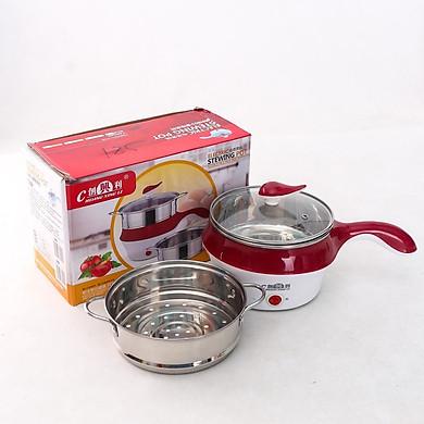 Nồi lẩu điện mini có tay cầm tặng kèm Combo 4 khăn lau bếp tiện lợi - giao màu ngẫu nhiên