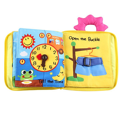 Gobestart Soft Cloth Baby Intelligence Development Learn Picture Cognize Book