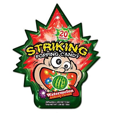 Kẹo nổ Striking Watermelon 30gr (Vị Dưa hấu)