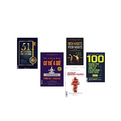 Combo 5 cuốn Tư duy doanh nhân xuất sắc( Tặng 1 giá đỡ iring dễ thương)