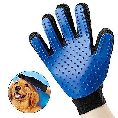 Găng tay chải lông, lấy lông rụng cho chó mèo có gai nhựa siêu dính lông thú cưng