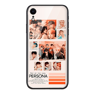 Ốp lưng KÍNH CƯỜNG LỰC VIỀN ĐEN cho iPhone XR KPOP_BTS_PERSONA - Hàng chính hãng