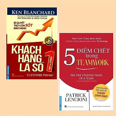 Combo 2 Cuốn Sách Gối Đầu Để Thành Công Trong Kinh Doanh: Khách Hàng Là Số 1 + 5 Điểm Chết Trong Teamwork