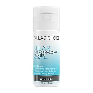 Trial Sữa Rửa Mặt Ngừa Mụn Và Se Khít Lỗ Chân Lông Clear Pore Normalizing Cleanser 30ml