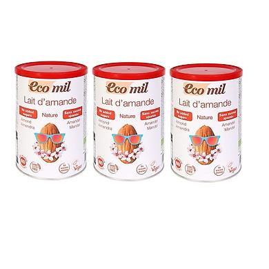 Bột hạnh nhân không thêm đường hữu cơ Ecomil (400g) - Lốc 3 hộp