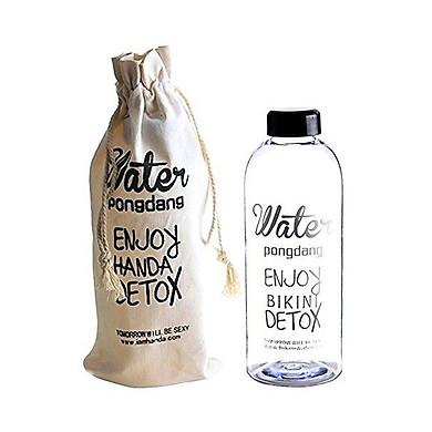 Combo 2 bình nước detox 1000ml+ kèm túi vải đựng bình