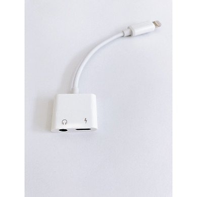 Jack/Cáp chuyển tai nghe Lightning sang 2 cổng tai nghe 3.5mm và cổng sạc cho iPhone/iPad