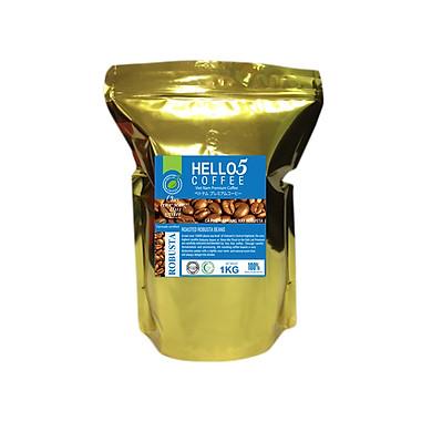 Cà phê hạt nguyên chất Robusta Hello 5 Coffee - Gói 1kg