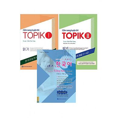 Combo Trọn Bộ Học Và Luyện Thi Tiếng Hàn của Châu Thùy Trang (tặng kèm Bookmark TH )