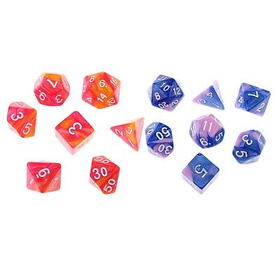 14 PCS Đa Diện Xúc Xắc D3 D4 D6 D8 D10 D12 D20 Chết cho GAME NHẬP VAI DND Bàn Chơi Game